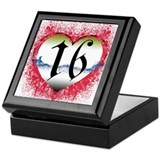 Gothic Heart 16th Keepsake Box