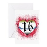 Gothic Heart 16th Greeting Cards (Pk of 10)