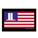 WTC Memorial Flag Postcards (Pack of 8)