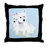 Bacchus &amp; Beignet Throw Pillow