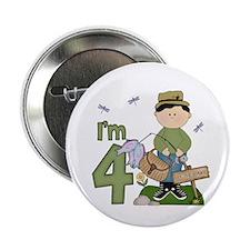 "Lil Fisherman 4th Birthday 2.25"" Button (10 pack)"