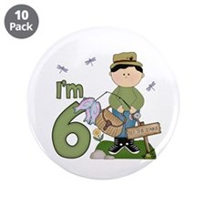 "Lil Fisherman 6th Birthday 3.5"" Button (10 pack)"