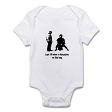 70 Miles Hog Funny Infant Bodysuit