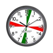 "Radio Room 10.5"" Dia. Wall Clock"