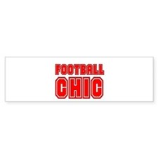 FOOTBALL CHIC CHICK DANI SURV Bumper Bumper Sticker