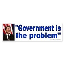 Government is the problem (sticker)