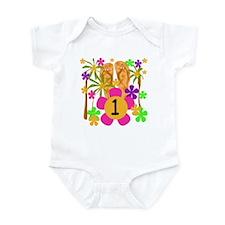 Luau 1st Birthday Infant Creeper