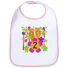 Luau 2nd Birthday Bib