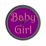 Baby Girl's Room Wall Clock