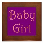 Baby Girl's Room Framed Tile
