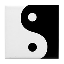Yin and Yang Tile Coaster