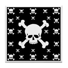 Black Skull Tile Coaster