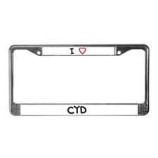 I love Cyd License Plate Frame