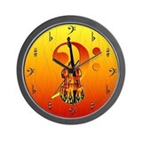 Stand Up Bass Wall Clock