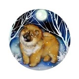 CHOW CHOW WINTER NIGHT Ornament (Round)