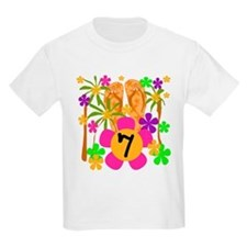 Luau 7th Birthday Kids T-Shirt