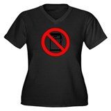 No gas Women's Plus Size V-Neck Dark T-Shirt