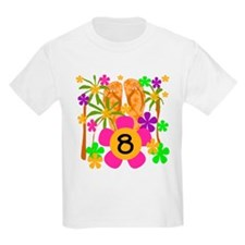 Luau 8th Birthday Kids T-Shirt