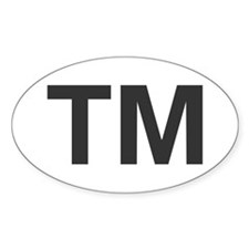 Trademark Oval Decal