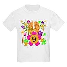 Luau 9th Birthday Kids T-Shirt