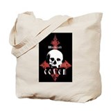 Skull Book Bag/ Tote + Back Print
