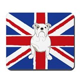 English Bulldog Flag Mousepad