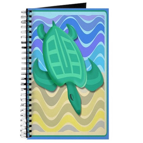 Turtle On Beach Journal