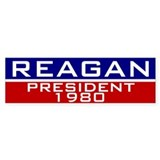 Reagan 1980 Bumper Car Sticker