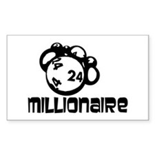 Millionaire Rectangle Decal