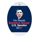 Barbara Boxer Oval Ornament