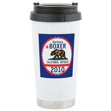 Barbara Boxer Ceramic Travel Mug