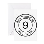 Circles 9 San Bruno Greeting Cards (Pk of 20)