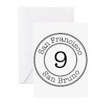 Circles 9 San Bruno Greeting Cards (Pk of 10)