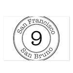 Circles 9 San Bruno Postcards (Package of 8)