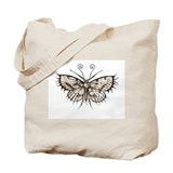 antique gothic moth Tote Bag