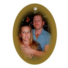 Dixie and George Christmas Oval Ornament