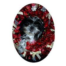 Mariah Christmas Oval Ornament