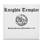 Knights Templar Saracen Blood Tile Coaster