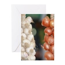 Garlic & Onions Greeting Cards (Pk of 20)