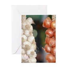 Garlic & Onions Greeting Card
