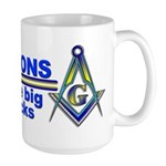 Masonic with bricks Large Mug
