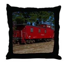 Red & Orange Caboose Throw Pillow