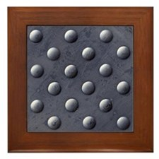 Metal Bumps Framed Tile