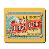 Birch Beer Old Time Ad Mousepad
