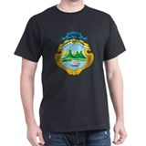 Costa Rica Coat Of Arms Black T-Shirt