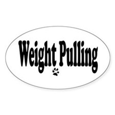 Weight Pulling Oval Decal