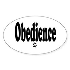 Obedience Oval Decal