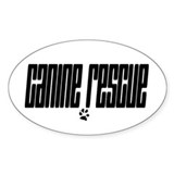 Canine Rescue Oval Decal