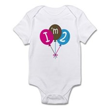 2nd Birthday Balloons Infant Bodysuit