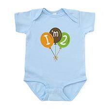 2nd Birthday Balloons Infant Bodysuit